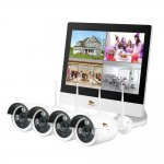 Outdoor Wireless LCD KIT 4cam black white