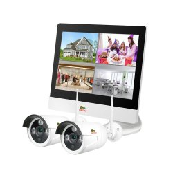 Outdoor Wireless LCD KIT 2cam black white
