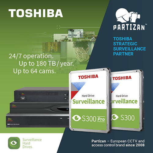 Partizan Security is now a Strategic Surveillance Storage Partner of Toshiba Electronics Europe