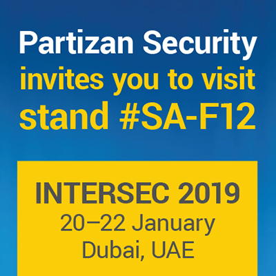 Partizan Security invites you to visit Intersec 2019